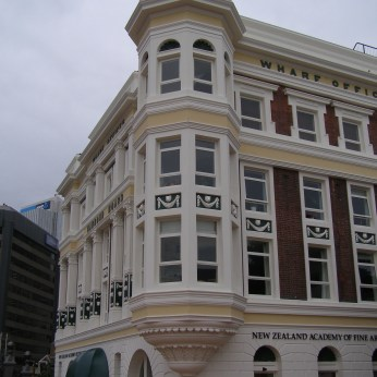 Wellington Harbour Board Wharf Office Building (Shed 7), now art gallery and apartments