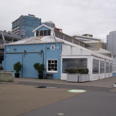 Shed 5, waterfront. Now a restaurant.