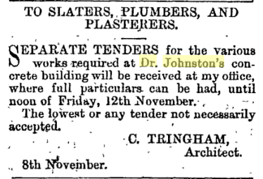 10 Nov 1875 p3 works at house Tringham