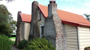 Side view with chimneys