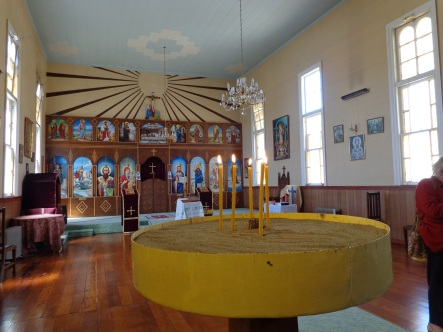 Inside St Sava's Serbian Orthodox Church