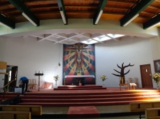 St Francis de Sales Catholic Church interior, with Christ mosaic