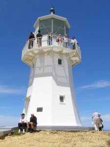 This cast iron lighthouse was the first permanent lighthouse to be built in New Zealand, it first shone on 1 Jan 1859.
