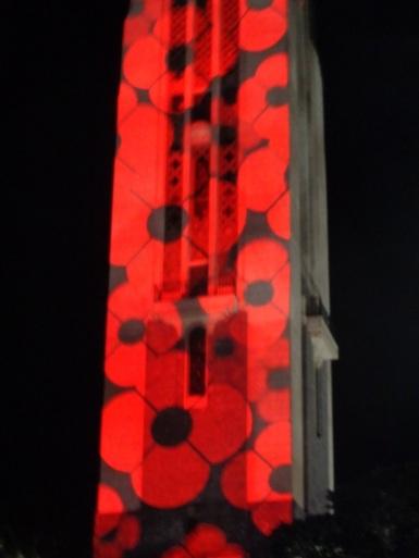 Carillon light show, Anzac 2015