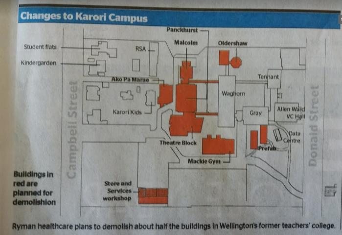 Karori campus planned demolish