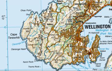 Terawhiti area to the west of Makara