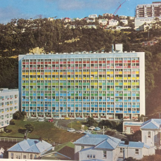 Gordon Wilson Flats, The Terrace, 1970s colour scheme