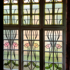 Stained glass windows of a 1906 Mt Victoria house