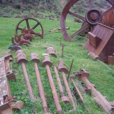 Albion Goldmining Battery remains, Terawhiti Station