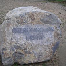Oterongo Bay Urupa sign, Wellington south coast
